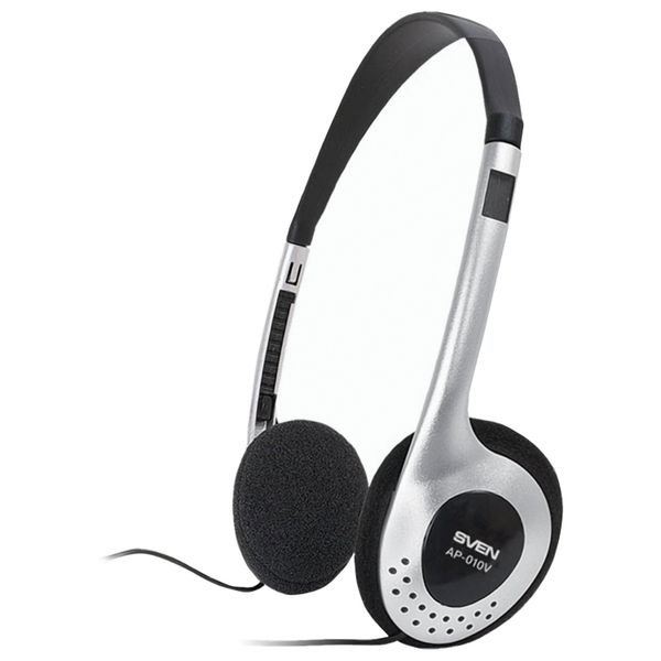 SVEN / Headphones AP-010V, wired, 2 m, stereo, with headband, black-silver
