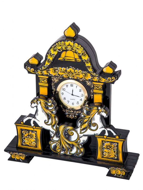 Table clock 'Time is gold'