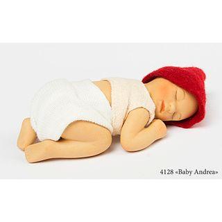 Birgitte Frigast / Porcelain doll Baby Andrea, 10 cm