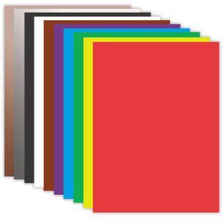 Cardboard A4 colored COATED (glossy), MAGIC, 10 sheets, 10 colors, in a folder, BRAUBERG, 200х290 mm, Mayak