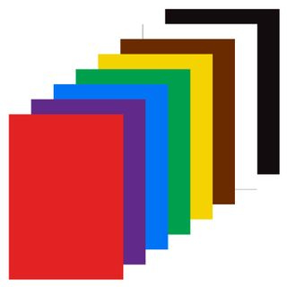 Cardboard A4 colored uncoated (matte), 8 sheets in 8 colors, in the folder of ONLANDIA, 200х290 mm,