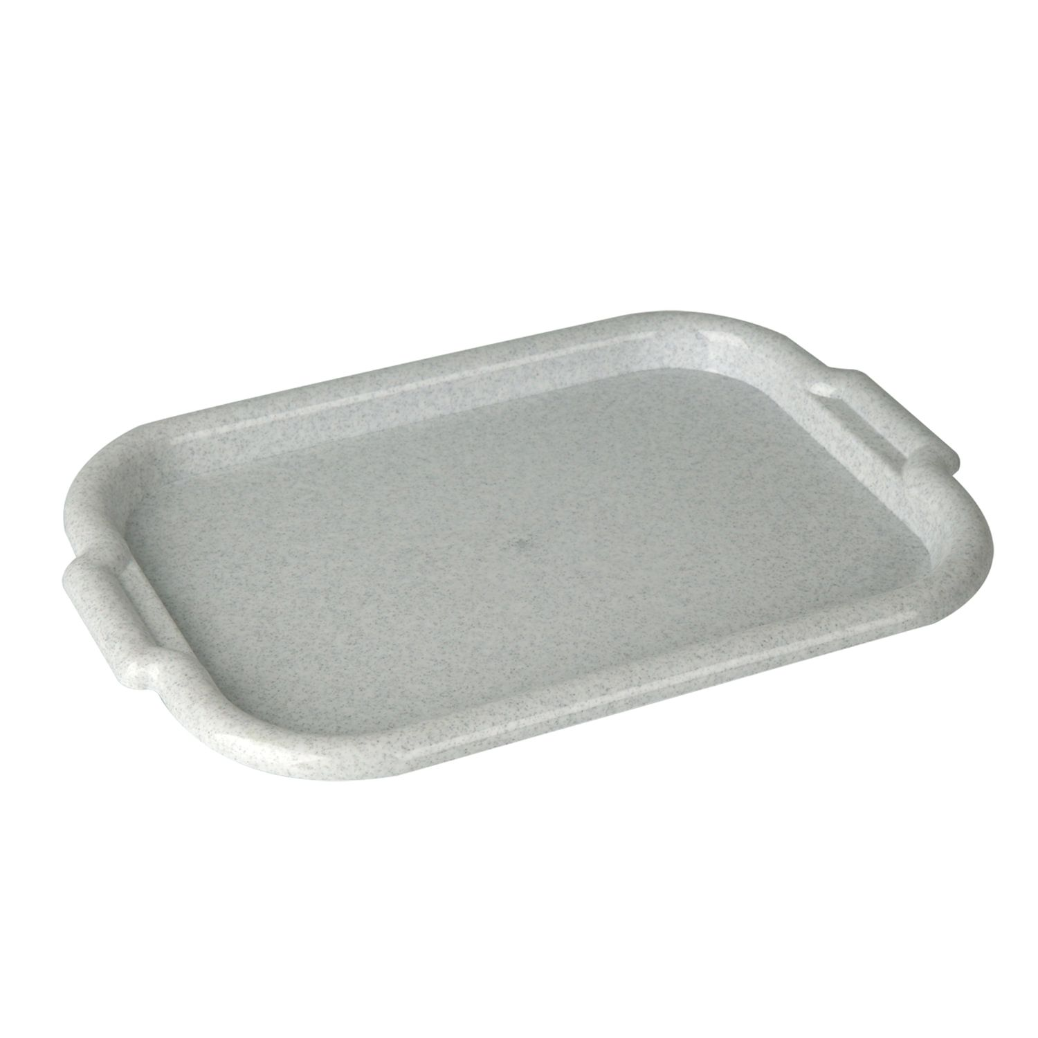 IDEA / Universal tray, large, 33x49 cm, marble / white