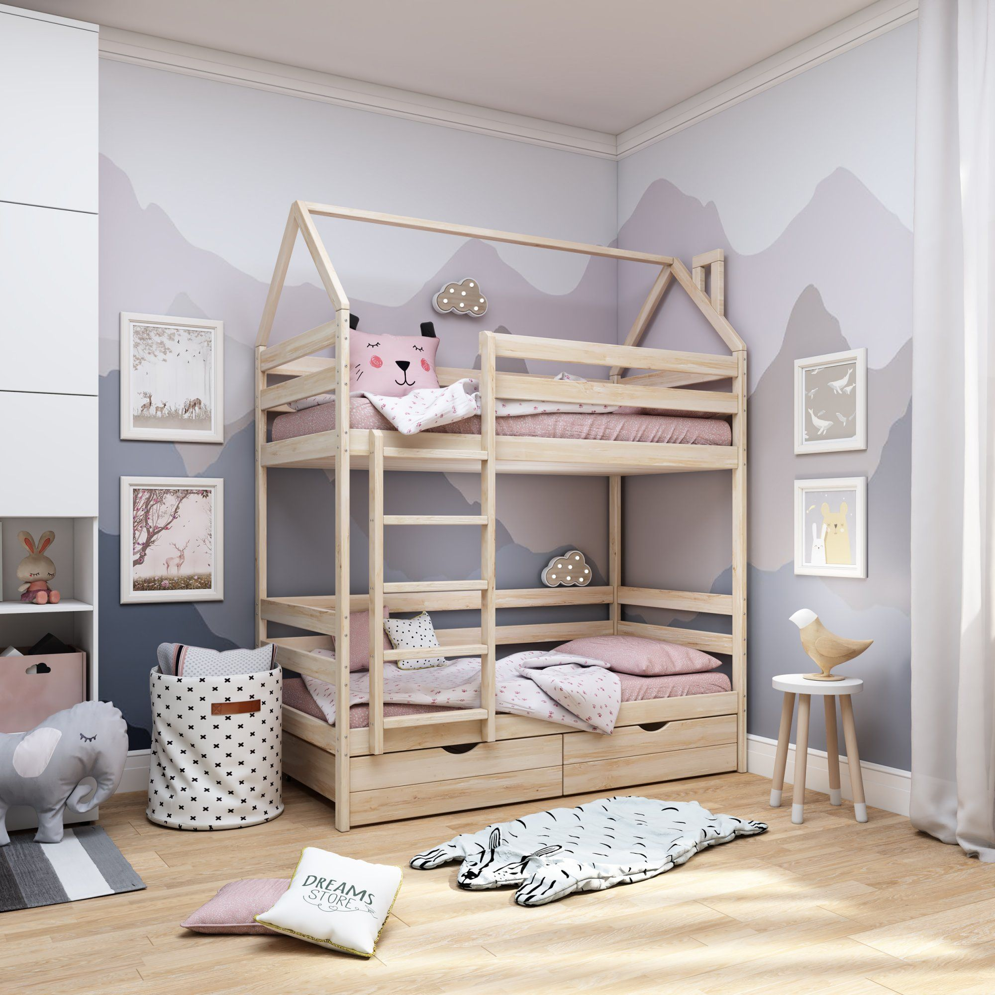 Dreams Store / Classic + lodge bunk bed in natural color