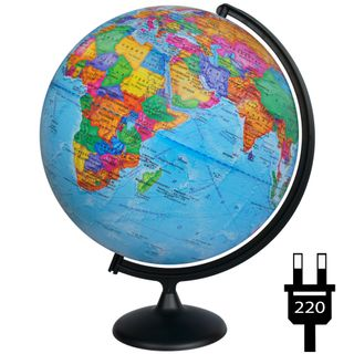 Political globe with a diameter of 420 mm with backlight