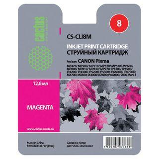 Inkjet cartridge CACTUS (CS-CLI8M) for CANON Pixma iP4200 / 4300/4500/5200/5300, magenta