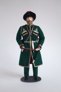 Doll gift. Ober-officer of horse-artillery battery in the form of everyday. 1855-70gg. The middle of the 19th century. (Kuban Cossack guard).