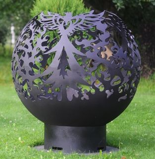 """Phoenix"" outdoor metal fire pit - laser cutting"