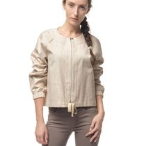 Jacket women's 'Dion' beige with silk embroidery