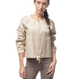 "Jacket women's ""Dion"" beige with silk embroidery"