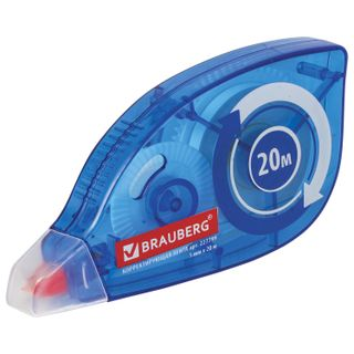 BRAUBERG correction tape 5 mm x 20 mm, case blue, the rewind mode, blister