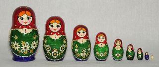 Vyatka souvenir / Inlaid matryoshka 9 ave.