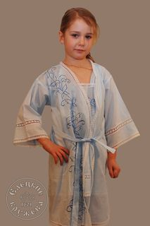 """Set of child """"Chemise and robe"""" embroidery"""