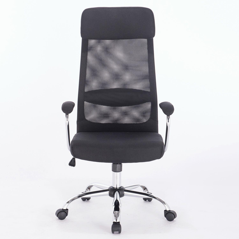 "Office chair BRABIX ""Flight EX-540"", chrome, fabric, mesh, black"
