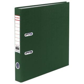 Folder-Registrar BRAUBERG with PVC coating, 50 mm, green (double life)