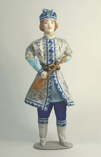 Doll gift porcelain. Prince Guidon. Fairy tale character.