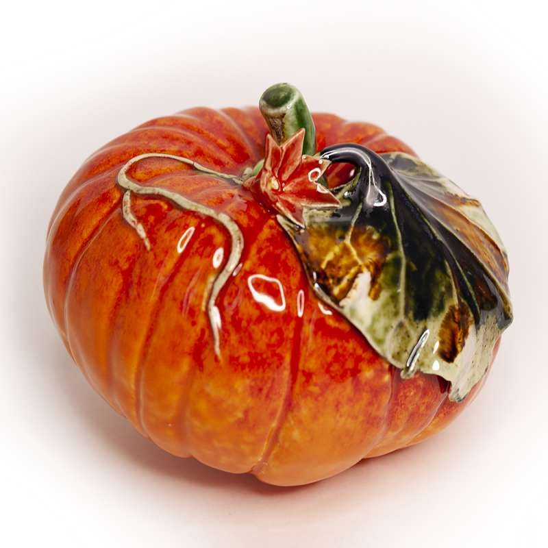 "Yaroslavl majolica / Figurine ""Medium pumpkin"""