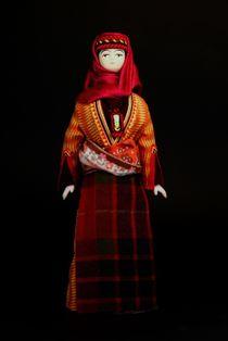 Doll gift porcelain. Armenia. Erivan lips. Women's festive costume. K. 19-B. 20.