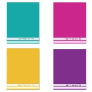 Notebook A5, 96 sheets, STAFF, cage, offset No2 ECONOM, cover cardboard, ONETON