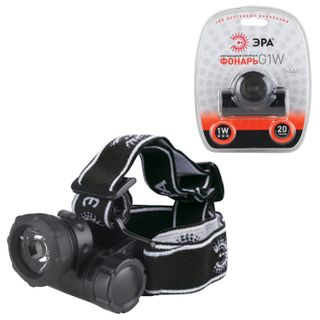ERA / LED headlamp G1W, 1 x LED + lens, moisture protection, power supply 3хААА (not included)