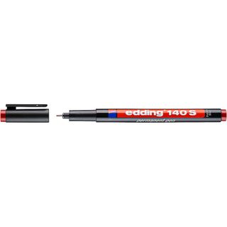 Edding / Permanent marker, for projection films, round tip, 0.3 mm Red