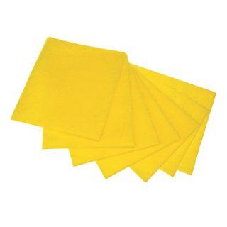 "LIME / Universal napkins ""NEDELKA"", 25x38 cm, 90 g / m2, viscose (IPP), yellow, SET of 7 pcs."
