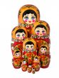 Khokhloma matryoshka 10 dolls - view 1