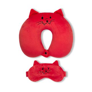 Neck pillow. With the sleep mask. Cat (1)
