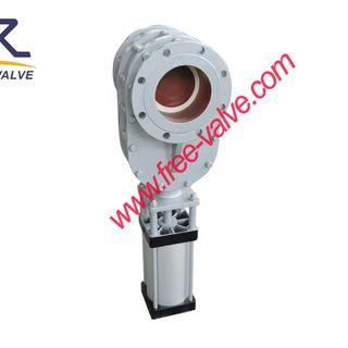 Ceramic pneumatic double disc gate valve,pneumatic wearable ceramic double gate valve,ceramic gate valve