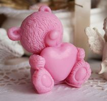 Loving Teddy Valentine Dark Pink - Handmade Olive Soap