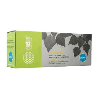 Toner cartridge CACTUS (CS-CE272A) for HP ColorLaserJet CP5525, yellow, yield 15000 pages.