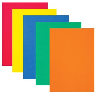A colored porous rubber (tamilan) for creativity A4 INLANDIA 5 BRIGHT COLORS, thickness 2 mm, with Euro slot