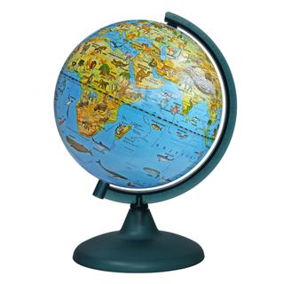 Zoogeographical globe with a diameter of 210 mm