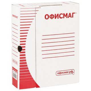 Archival box with flap A4 (260х325 mm), 75 mm, up to 700 sheets of dense, micro -, WHITE, FISMA