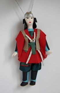 Doll gift. Samurai in 18th century Japan