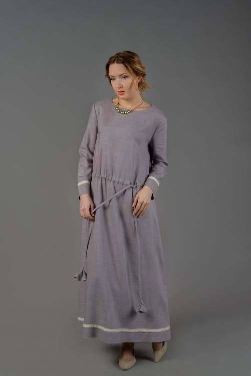 Dress womens elongated, extended to the bottom