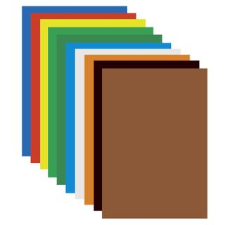 Cardboard A4 colored COATED (glossy), 10 sheets, 10 colors, PYTHAGORAS, 200х290 mm,