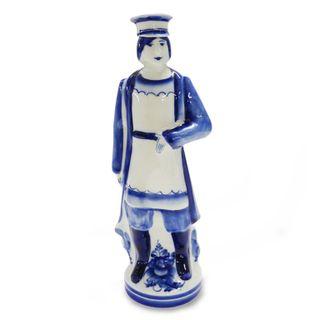 Merchant bottle 0.5 l, Gzhel Porcelain factory