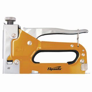 Stapler furniture SPARTA, steel, adjustable, staple type: 53, 4-14 mm, set 200 staples