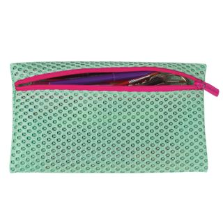 Pencil case-cosmetic bag BRAUBERG, mesh,