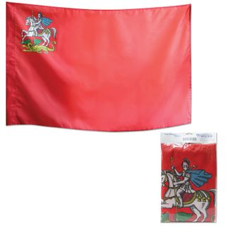 The flag of the Moscow region, 90х135 cm, the pocket under the shaft, packing with Euro slot