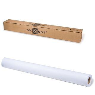 Roll for plotter, 914 mm x 45 m x bushing 50.8 mm, 90 g/m2 CIE whiteness of 161%, Matt Coated AKZENT