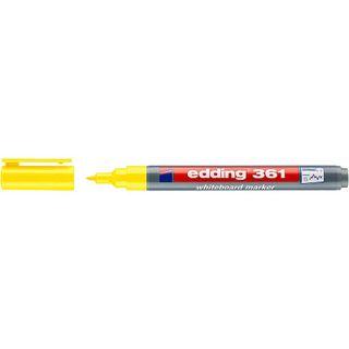 Edding / Whiteboard marker, round nib, 1mm Yellow