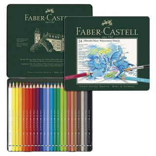 The colored watercolor art pencils FABER-CASTELL
