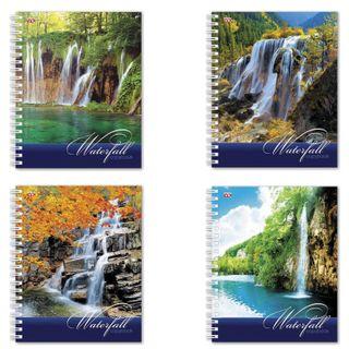 Notebook A5, 96 sheets, HATBER VK, spiral, cage, cardboard cover,