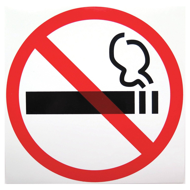 "Sign ""No smoking sign"", diameter 200 mm, self-adhesive film"