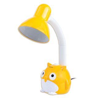 "SONNEN / Table lamp OU-603, on a stand, E27 base, ""Owl"", yellow"