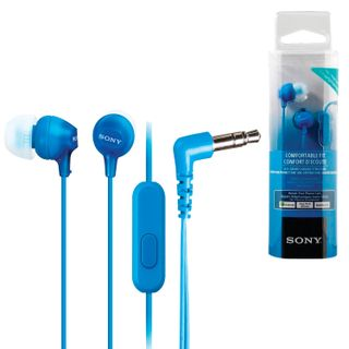 SONY / Headphones with microphone (headset) MDR-EX15AP, wired, 1.2 m, in-ear, stereo, blue