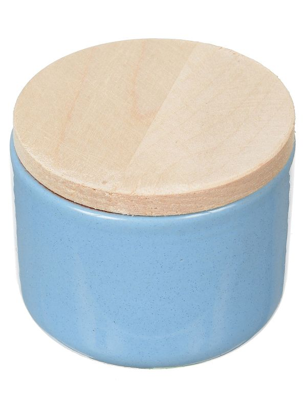 Vyatka ceramics / A set of containers with a lid, a volume of 0.2 liters, 12 pcs. (blue)