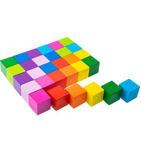 Volume / Cubes Colored 30 pieces