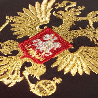 "Diary ""eagle"" in purple color with Golden embroidery"